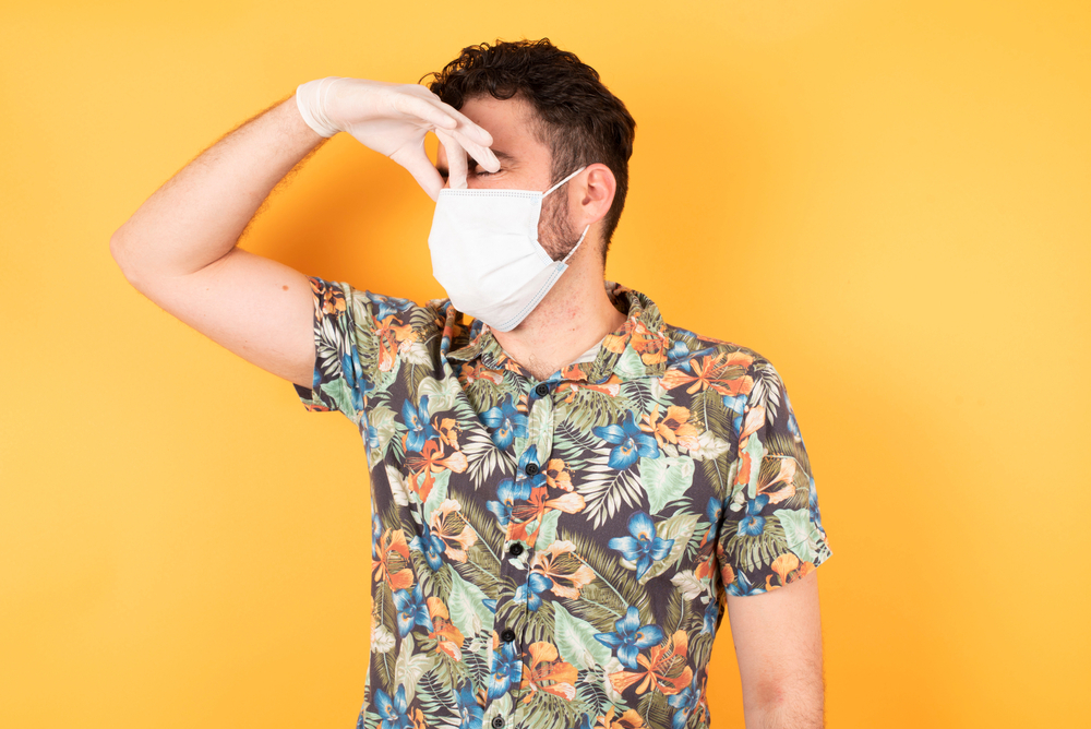 Uso de máscara e mau hálito